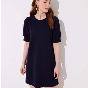 LOFT | Petite puffed sleeve sweatshirt dress